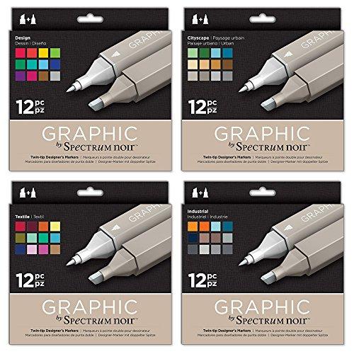 Spectrum Noir Graphic 12Stück Pen Bundle Pen Bundle