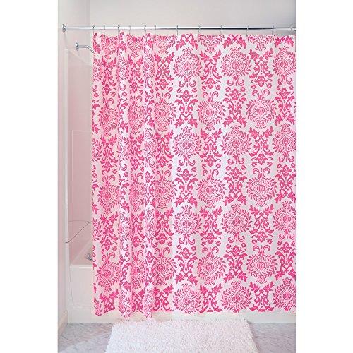 InterDesign Damask Duschvorhang | hochwertiger Duschvorhang mit Ösen aus Metall| Designer Duschvorhang in der Größe 183,0 cm x 183,0 cm |...