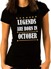 GFashion Legends Born in October Women's t Shirts-Birthday t Shirts-Gift for Girl Friend Birthday-Gift for Daughter's Birthday,Gift for Wife's Birthday