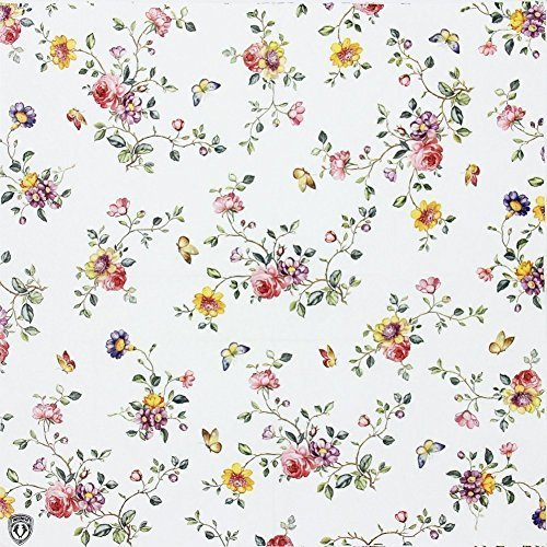 Floral Paper Napkins, Alink Spring Flower Design Vintage Luncheo Bandana Napkins Serviettes, 20 Count for Wedding, Dinner Tea Party by ALINK