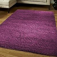 Think-Louder Lussuoso tappeto spesso e morbido, non perde pelo, con strato antiscivolo, Purple, (Spesso Cucina Tappeti)