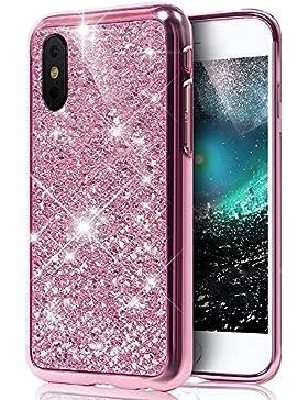 Carcasa Funda Funda para iPhone X/10, iPhone X/10–Carcasa de silicona 360grados de protección, iPhone X/10...