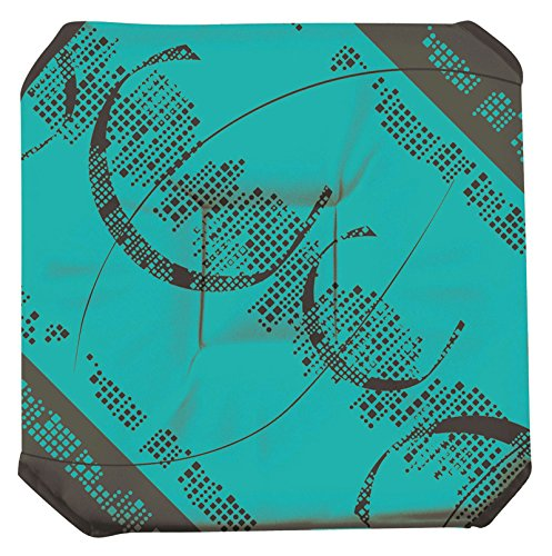 Galette de chaise anti-taches à rabat Astrid turquoise