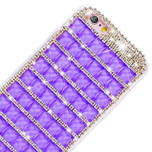 GrandEver iPhone 6 Plus/iPhone 6S Plus Hartschale Hart Hülle Glitzer Schutz Bling Hardcase Rückschale Schutzhülle für Samsung iPhone 6 Plus/iPhone 6S Plus Bumper Klar Dünne Ultra Slim Rückseite Clear  Traum Lila