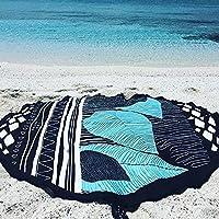 DAMENGXIANG Alfombrilla De Verano En La Playa Bikini Beach Holiday Mantón Circular Impresa De La Estera