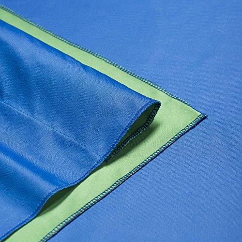 Walimex Pro 2-in-1 Stoffhintergrund 2,85x6 m blau/grün