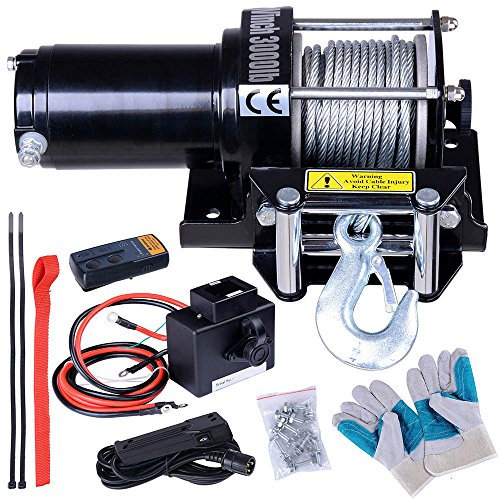 ReaseJoy 3000lbs (1361kgs) ATV Electric Recovery Winch Kit Wireless Remote Control 12V UTV Trailer Truck Car Test