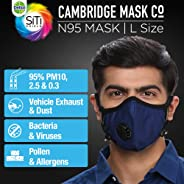Dettol Pollution Mask N95 Cambridge Reusable, Washable, Durable (Blue, Large)