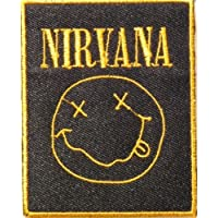 """2.5"""" x 3""""NIRVANA Heavy Metal Rockabilly Rock Punk Music Band Logo jacket T-shirt Patch Iron on Embroidered Sign"""