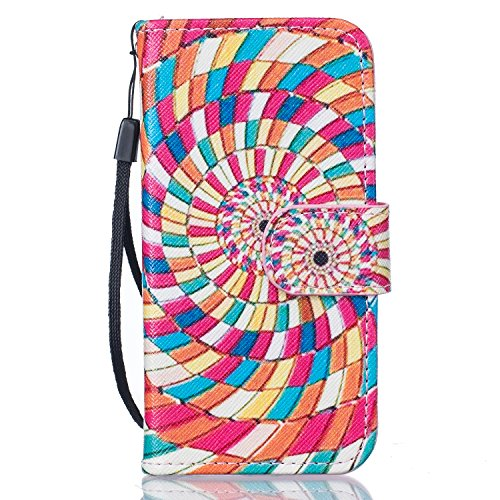 Apple iPhone 5c Case Cover Wallet,Anti-scratch Cuir Dragonne Portefeuille Relief fille papillon Housse pour iPhone 5c,SainCat Coque de Protection PU Leather Flip Wallet Case Cover Bumper Bling Diamond Tourbillons de couleur