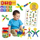 ETI Toys Geometry Snowflakes for Boys and Girls 80 Piece Set for Making Endless Creations! Great for Learning & Developing and Having Fun Make Your Imagination Today!