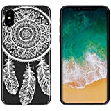 yayago Schutzhülle für Apple iPhone X Tasche iPhone X Hülle Ornament Motiv Spring Tattoo Transparent