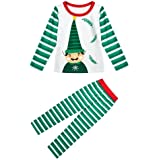 Zhuhaixmy Family Matching Christmas Pajamas Set Kids Adult Xmas PJs Casual Holiday Sleepwear Nightwear 2-Piece Set