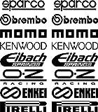 Car-Door-Stack-Sponsor-Logo-Aufklebers-Graphics-Aufklebers-set-2-/25261`+ Bonus Testaufkleber