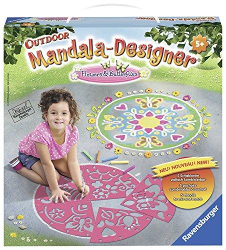 Ravensburger 29763 - Flowers & Butterflies Mandala Designer Outdoor
