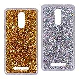 Asnlove 2 Stück 3D Bling Shiny Case Luxus TPU Silikon Handytasche Glänzend Weiche Schlank Tasche Bumper Transparente Durchsichtig Crystal Hülle Case für Xiaomi Redmi Note 3 5.5 Zoll