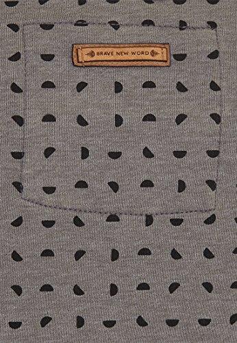 Naketano Male Sweatshirt Selbstbefriedigungsjustiz II Heritage Dark Grey Melange