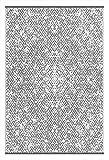 Green Decor Rio Teppich, für den Außenbereich, Kunststoff, leicht, wendbar , plastik, grau / weiß, 150 x 240 cm
