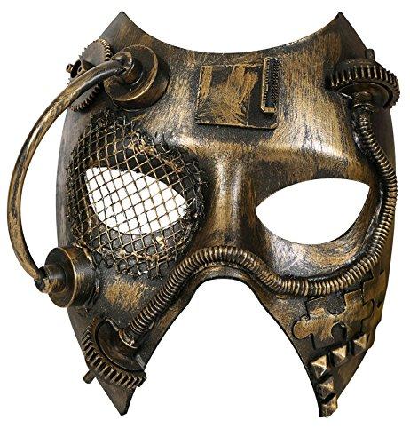 Party-Chic Halbmaske Steampunk gold