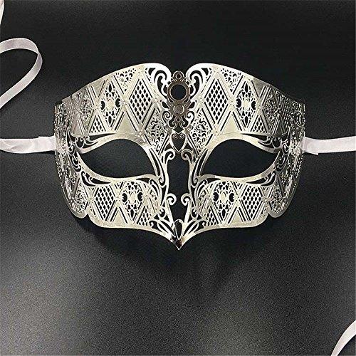 Masken Gesichtsmaske Gesichtsschutz Domino falsche Front Männliches Gesicht -