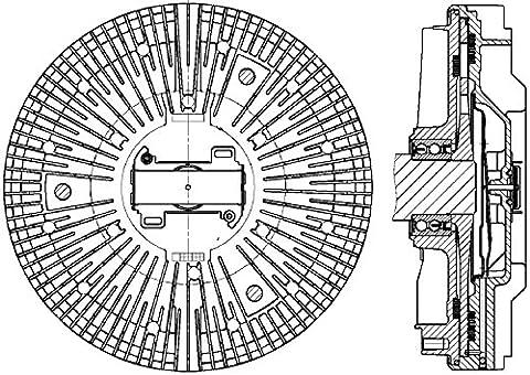 Hella 8MV 376 730-101 Clutch, Cooling Fan