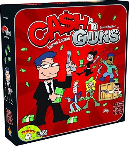 Asmodee  ASMCG-EN02 - Cash und Guns, Kartenspiel