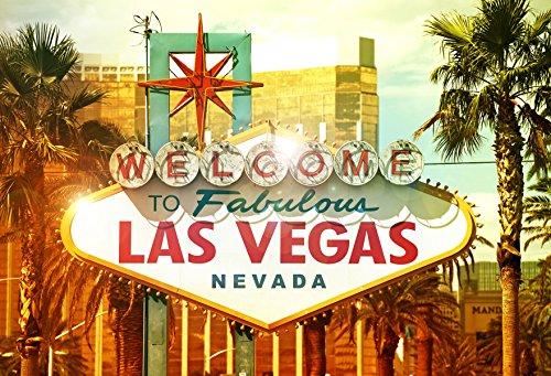 WaW Fotohintergrund Welcome to Las Vegas Urlaub Sonnig Tropische Palm Strand Stoff Fotobooth Hintergründe Hochzeit 2.2x1.5m