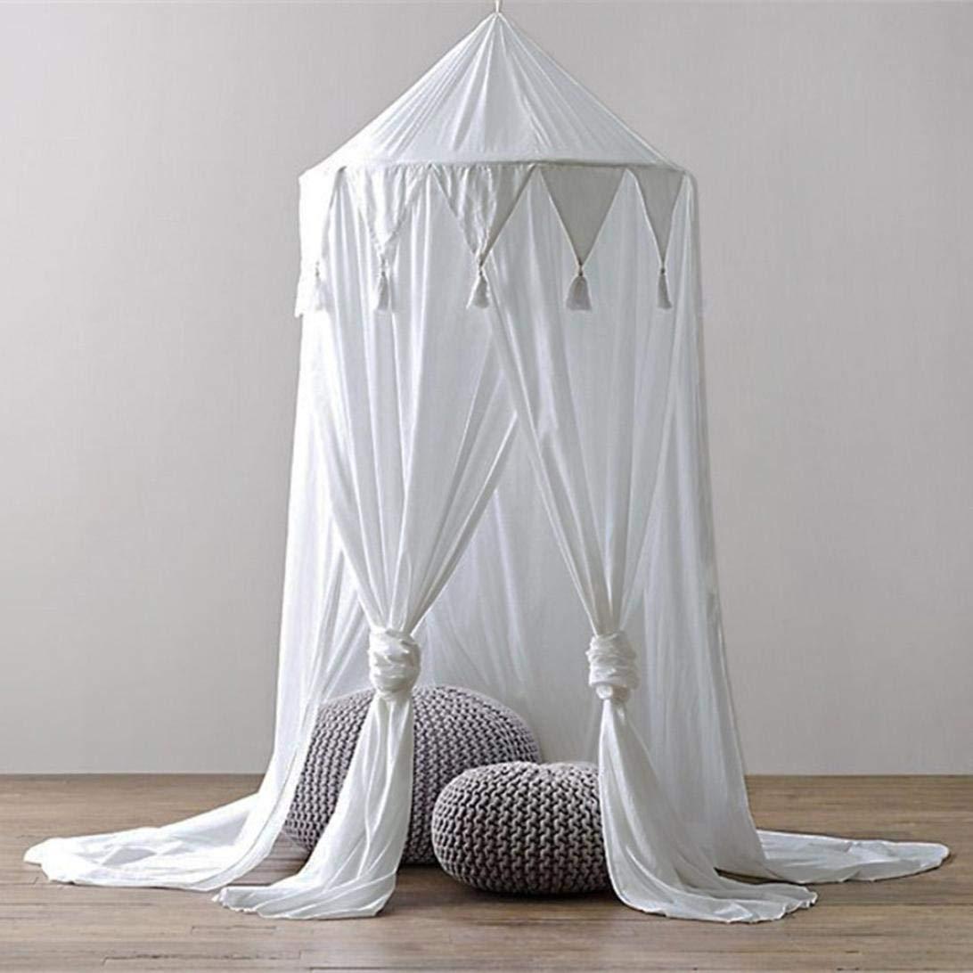 2 entradas Tebery mosquitera para cama con dosel f/ácil de instalar cortina de malla cuadrada carpa extra grande para doble a king size orificios finos 200 * 200 * 180 cm
