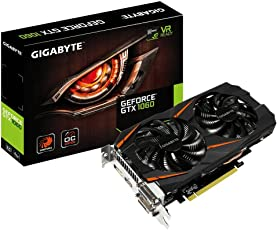 Gigabyte GV-N1060WF2OC - Grafikkarte NVIDIA GeForce 1060 GTX OC Windforce 2 (6 GB GDDR5, PCI-E 3.0, DVI-D, HDMI, DP), Farbe schwarz