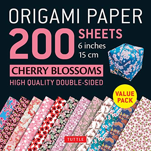 Origami Paper 200 sheets Cherry Blossoms 6 inch (15 cm): High-Quality Origami Sheets Printed with 12 Different Colors (Origami Paper Pack)