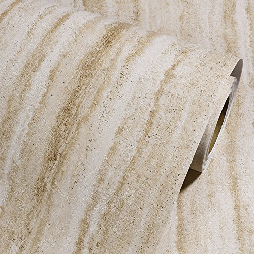 Spessore PVC adesivo da parete in finta pietra Home Kitchen oil stickers impermeabile stufa finestra vecchi mobili Renovation giallo carta da parati