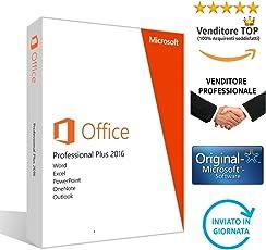 MICROSOFT OFFICE 2016 PROFESSIONAL PLUS | 32/64 bit | Licenza PERPETUA, NO Abbonamento | Regolare fattura con chiave | Spedizione elettronica in Giornata | Nessuna Spedizione di CD/DVD