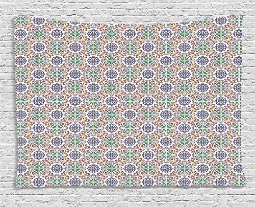 Abakuhaus geometrico tessitura murale, portoghese impiantistica, per il salone di bellezza, 200 x 150 cm, multicolore