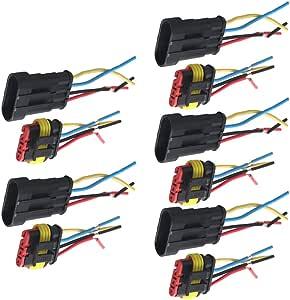 Supmico 5 X 4 Polig Kabel Steckverbinder Stecker Wasserdicht Schnellverbinder Draht Kfz Auto