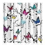 Baoblaze 2er-Set Vorhang Schal Verdunkelungsvorhang BLICKDICHT für Wohnzimmer Schlafzimmer, Auswahl - Schmetterling