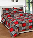 KS21 Homes 3D Printed Glace Cotton Double Bedsheet with 2 Pillow Covers, Size : 90 x 90 Inches (228 cm x 228 cm)