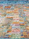 Posterlounge Leinwandbild 100 x 130 cm: Hauptweg und Nebenwege von Paul Klee - fertiges Wandbild, Bild auf Keilrahmen, Fertigbild auf echter Leinwand, Leinwanddruck