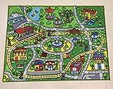 GRENSS Große Kinder Spielen Wolldecke für Spielzeug Fahrzeuge sicher und Spaß Kinder Lernen Teppich mit Rutschfeste Unterlage Kinder Spielteppich für Spielzimmer Schlafzimmer