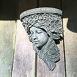 Antikas - Traumhaft lebendig wirkende Wanddekoration Konsole Frauenkopf Skulpturen Garten