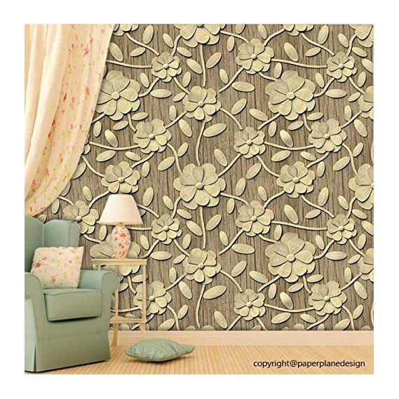 Paper Plane Design Self Adhesive Sticker Wallpaper. Theme - 3D Flowers