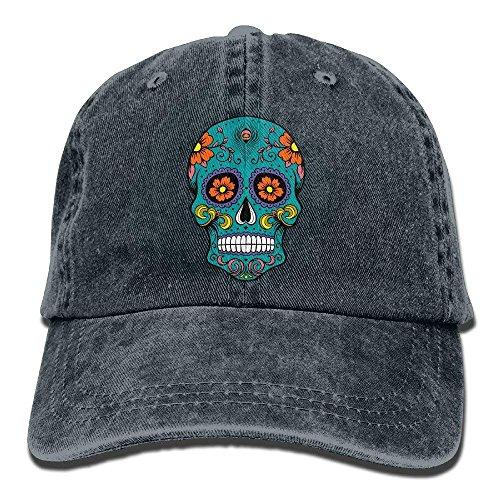 Sugar Skull Vintage Jeans Baseball Cap Outdoor Sports Hat for Men and ()