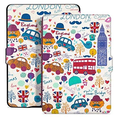 Ayotu Hülle für Kindle Paperwhite-Case Cover Mit Auto Sleep/Wake für Amazon Kindle Paperwhite 2012/2013/2016/2015 3.Gen(Nicht geeignet für Das Modell der 10. Generation 2018) K5 The London Impression