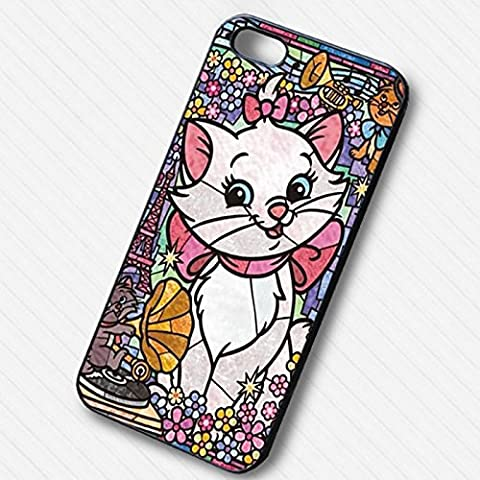 Disney Stained Glass Cat Marie for Iphone 6 and Iphone 6s Case B4O6RX