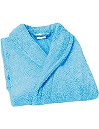 Home Basic Kids - Albornoz con capucha para niños de 14 años, color océano