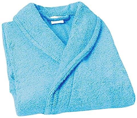 Home Basic Kids - Peignoir enfant avec capuche taille 14 , couleur bleu océan