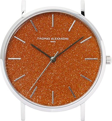[Thomas Alexandre] Reloj de Piedra Natural Goldstone France Minimal Diseño Hombre Mujer