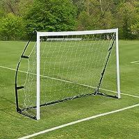 Cage de foot but de foot 183L x 50l x 122H cm portable avec sac de transport acier fibre verre filet PE 02