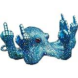Octopus with Mother of Pearl Luminous Octopus with Middle Finger, Glow in The Dark Octopus for Garden Indoor Outdoor…