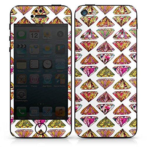 Apple iPhone 5c Case Skin Sticker aus Vinyl-Folie Aufkleber Dreieck Diamant Muster DesignSkins® glänzend