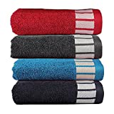 #3: Trident 550 GSM Extra Large (50 cm x 70 cm) Egyptian Cotton Pack of 4 Hand Towels Set